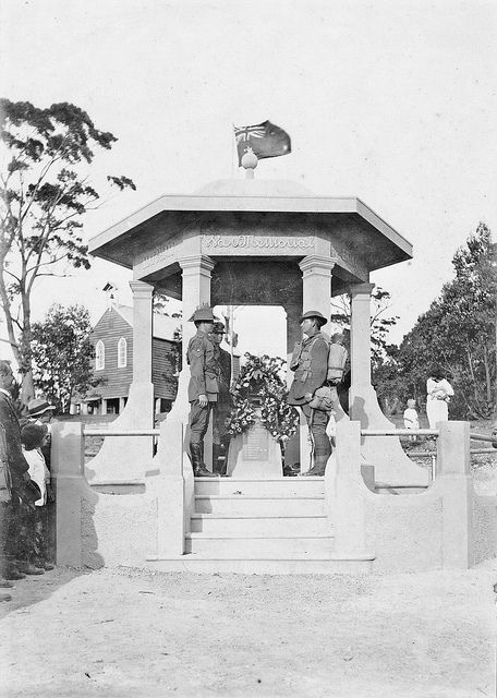War Memorial, Anzac Day, Erina circa 1920s | by Gostalgia: local history from Gosford Library, via Flickr