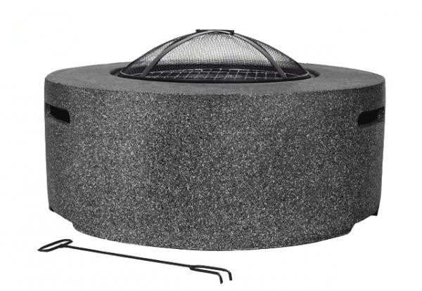 Contemporary Firepit With Bbq Grill And Mesh Guard Steel Fire Pit Bbq Grill Fire Bowls