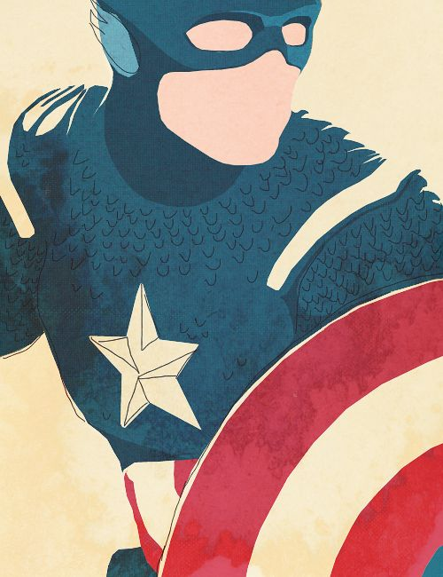 http://captainamerlca.co.vu/post/104410977450 Captain America minimalist poster