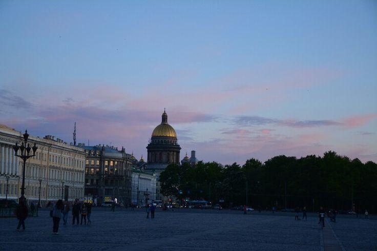Evening walk-Palace square