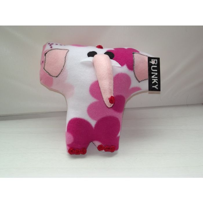 Handmade Pink and White Soft Elephant Small Cushion, Handmade Funky Elephant Cus Listing in the Pillows & Cushions,Home Décor,Home & Garden Category on eBid United Kingdom | 156765902