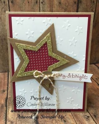 Merry and Bright Holiday Star Card | Just Sponge It! | Bloglovin' :: Beautiful, #homemade #Christmas cards