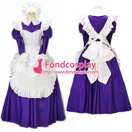 Free Shipping Lockable Sissy Maid Dress Cotton Uniform Cosplay Costume Tailor-made