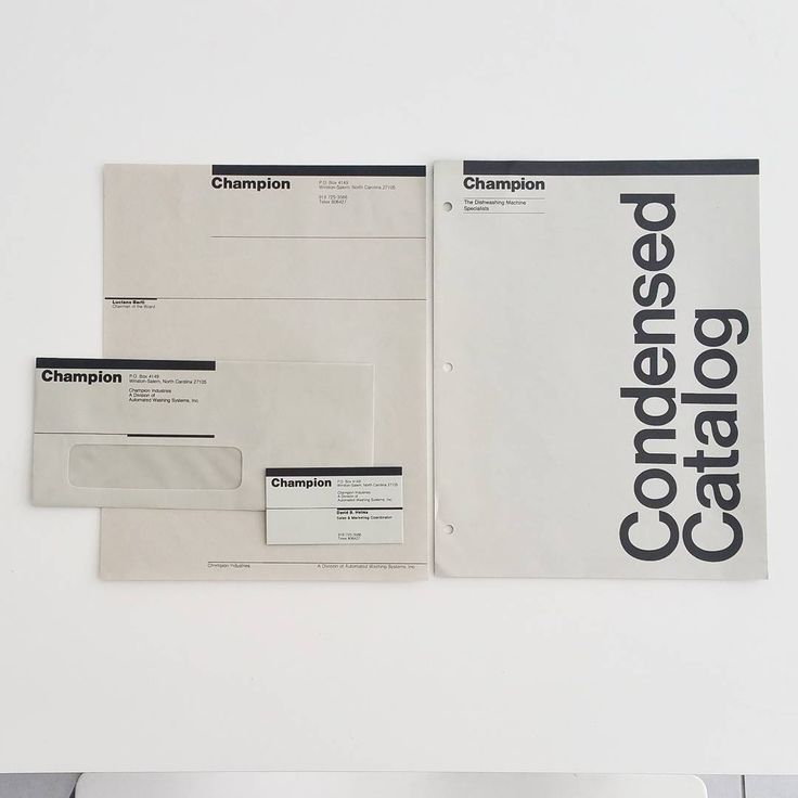 """""""Graphics by #Vignelli Associates for Champion Industries, the Dishwashing Machine Specialist, circa…"""""""