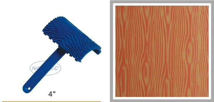 4'' rubber wood Grain liquid wallpaper tools NWG42 FREE shipping | 100mm woodgrain tool | art textured tools