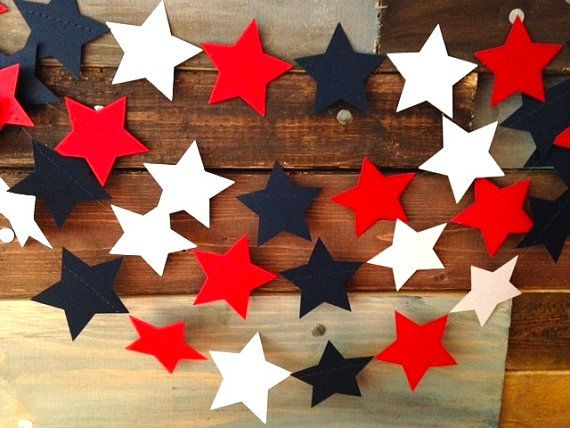Red White and Navy Blue Stars Nautical 4th of by PartyMadePretty, $10.00