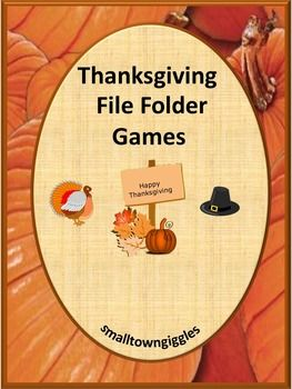 Thanksgiving : Autumn means falling leaves, cooler temperatures and Thanksgiving, a time to give thanks for all our blessings. Thanksgiving is a time when we all should take time to give thanks. Thanksgiving?. Students love all the activities that come with Thanksgiving. You can bring some of this Thanksgiving fun into your classroom with this Autumn, Thanksgiving Time File Folder Games 29 page packet. T