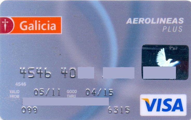 Aerolineas Plus VISA (Banco Galicia, Argentina) Col:AR-VI-0147