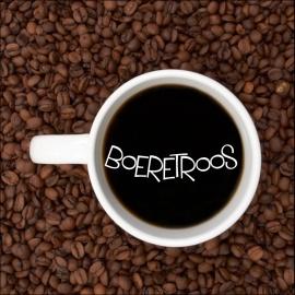 Boeretroos - word algemeen gebruik om 'n koppie koffie te beskryf wat tipies swart, sonder room of melk met suiker aangebied word.