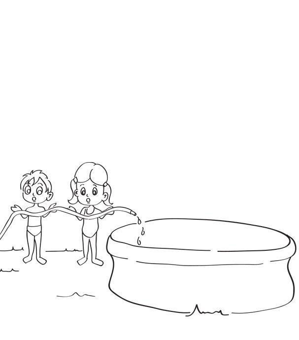 piscine gonflable dessin. Black Bedroom Furniture Sets. Home Design Ideas