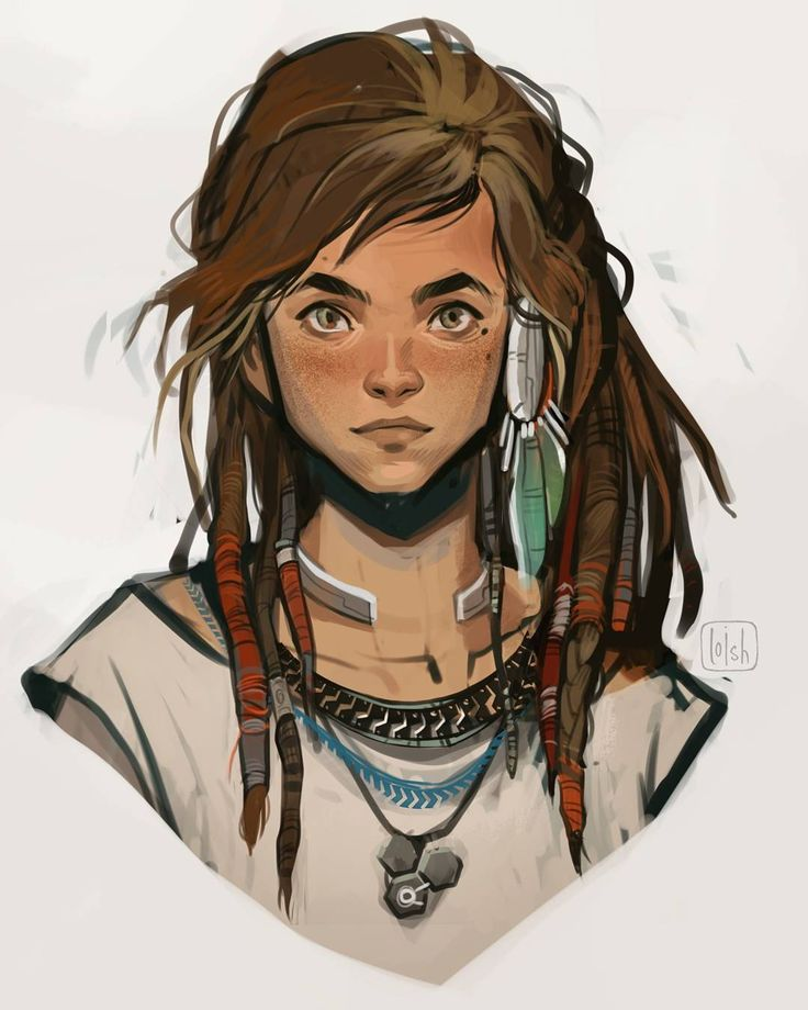 "54 mil Me gusta, 197 comentarios - loish (@loisvb) en Instagram: ""More concept art of Aloy, the lead character of Horizon: Zero Dawn! Together with the rest of the…"""