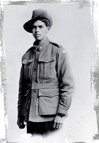 Portrait photo of an unknown soldier
