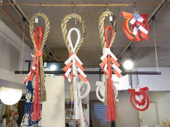 吉本博美お正月飾り 紙垂れと水引 そして しめ縄