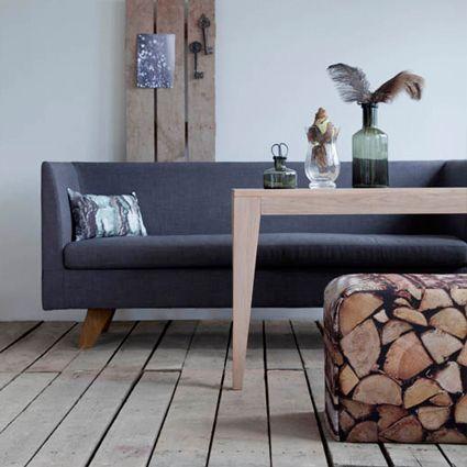 Varg spisebord med Stunder sofabord - Ygg og lyng