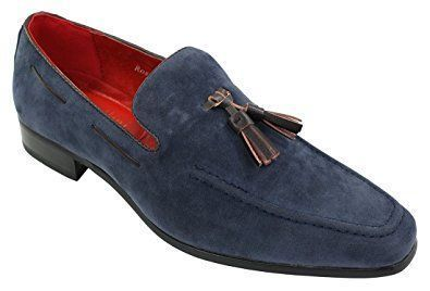 Mens Suede Loafers Driving Shoes Slip On Tassle Design Leather Smart Casual: Amazon.co.uk: Shoes & Bags