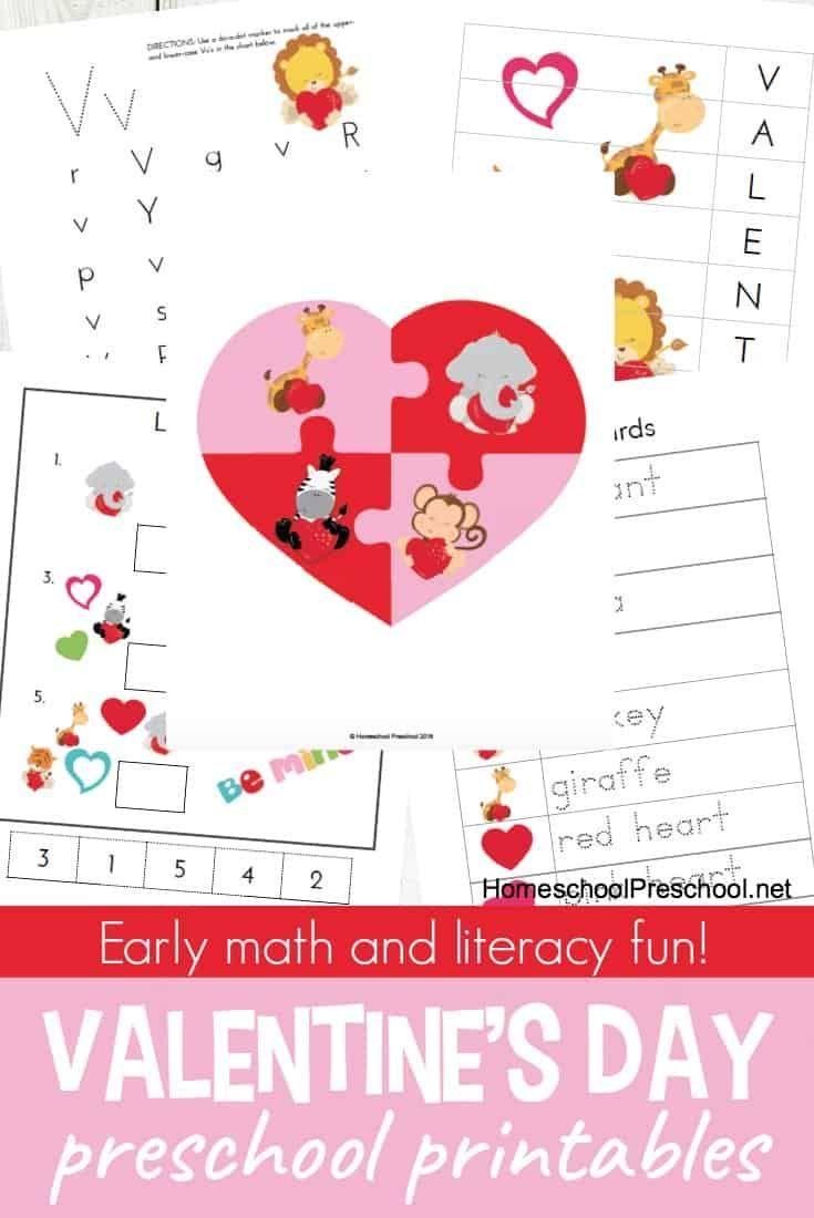 Free Printable Preschool Valentine S Day Worksheets Free Preschool Printables Preschool Valentines Preschool Printables [ 1100 x 735 Pixel ]