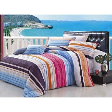 KING reversible Quilt Cover 3 piece set called OCEAN, available in all sizes from www.beachabodeliving.com.au