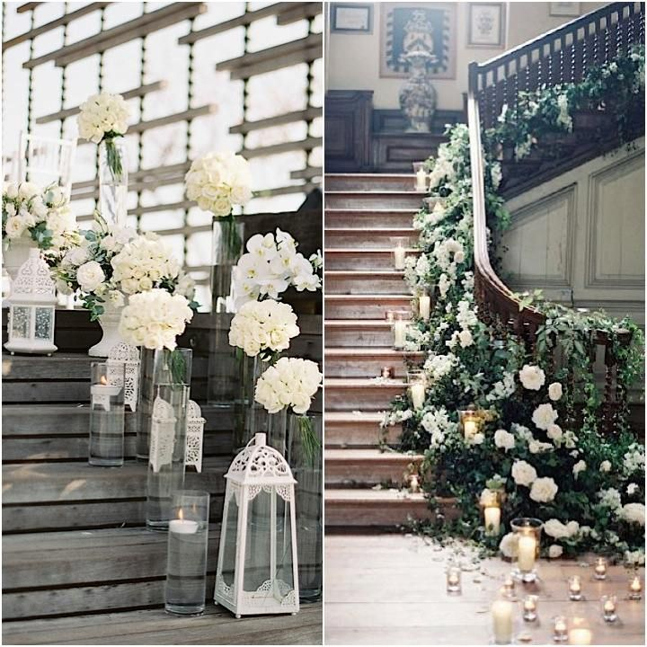 Stairway Decorated With White Tulle And Red Silk Roses: 1000+ Images About Wedding Staircases Decor On Pinterest