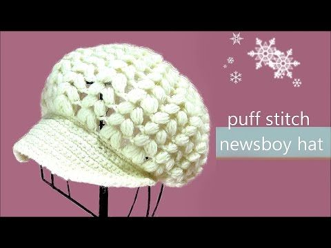 How to Crochet Beanie Hat with Brim Tutorial - | The best ever - YouTube