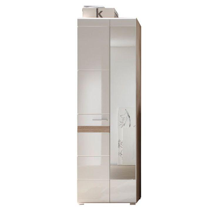Spectacular Garderobe Set One Hochschrank Wei Eiche San Remo Jetzt bestellen unter https