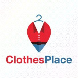 Exclusive Customizable Logo For Sale: Clothes Place | StockLogos.com