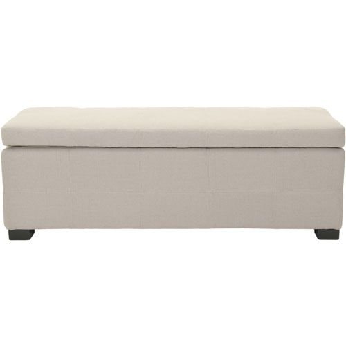Large Beige Storage Bench Safavieh Home Furniture Storage Benches Accent & Storage Benches
