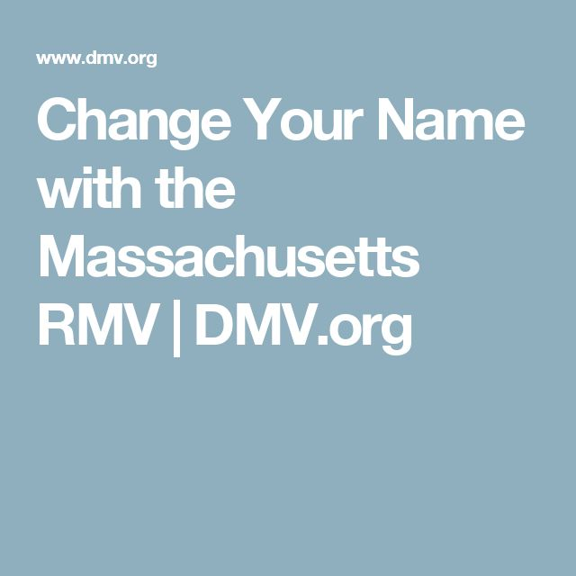 Change Your Name with the Massachusetts RMV | DMV.org