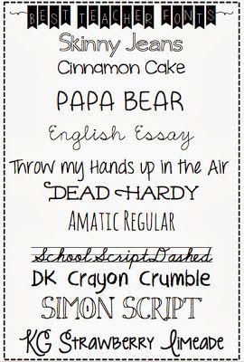 best readable teacher fonts - Silver Lining