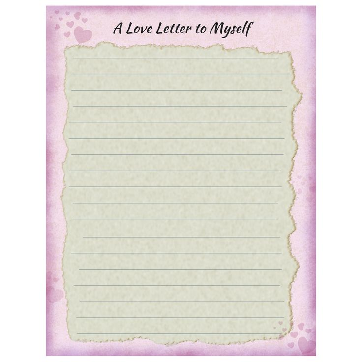letter to myself Letter to self – activity  you should also do yourself a favor and write your own letter – you will treasure it just as much as your students will 4) at the end of the time, collect the.