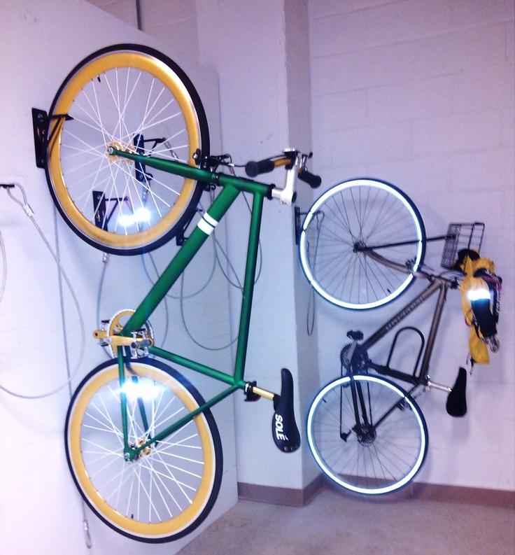 Wall Mount Bike Racks installed in NYC. Wall Mount Bike ...