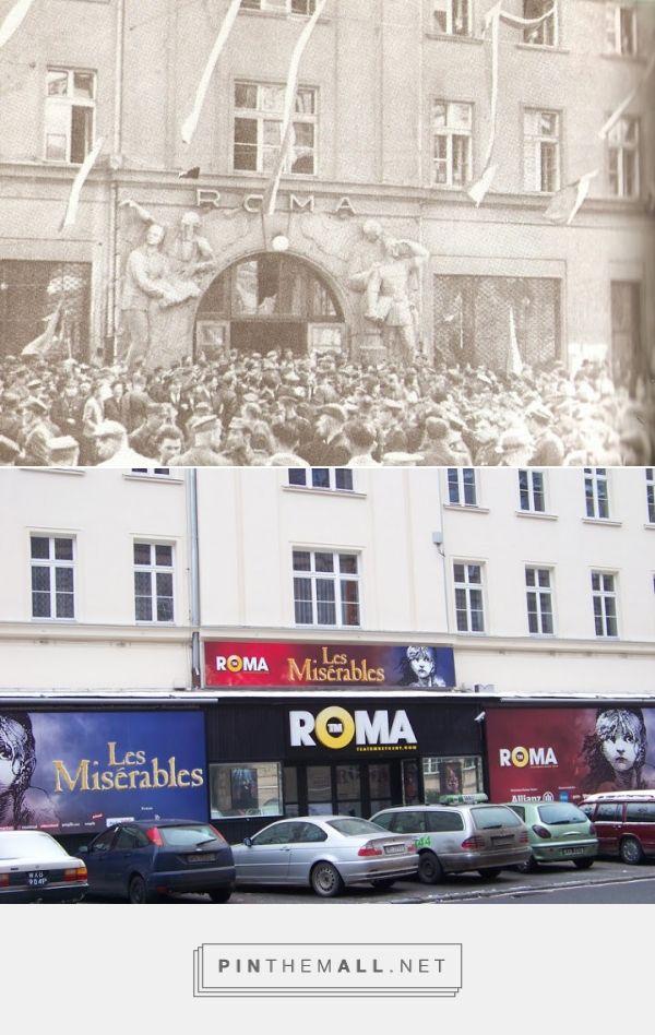 """Warszawa zniszczona niedawno. Bo tyle zostało (fot. 2011) z wejścia do teatru """"Roma"""", widocznego na zdjęciu z 1945. - created via https://pinthemall.net"""