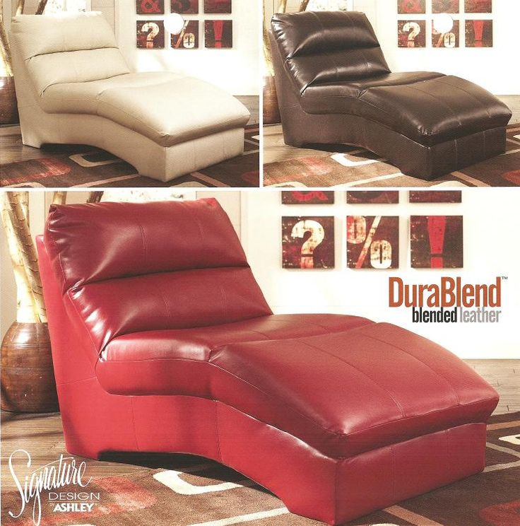 Ashley Furniture 927xx Blended Leather Chaise Lounge New Low