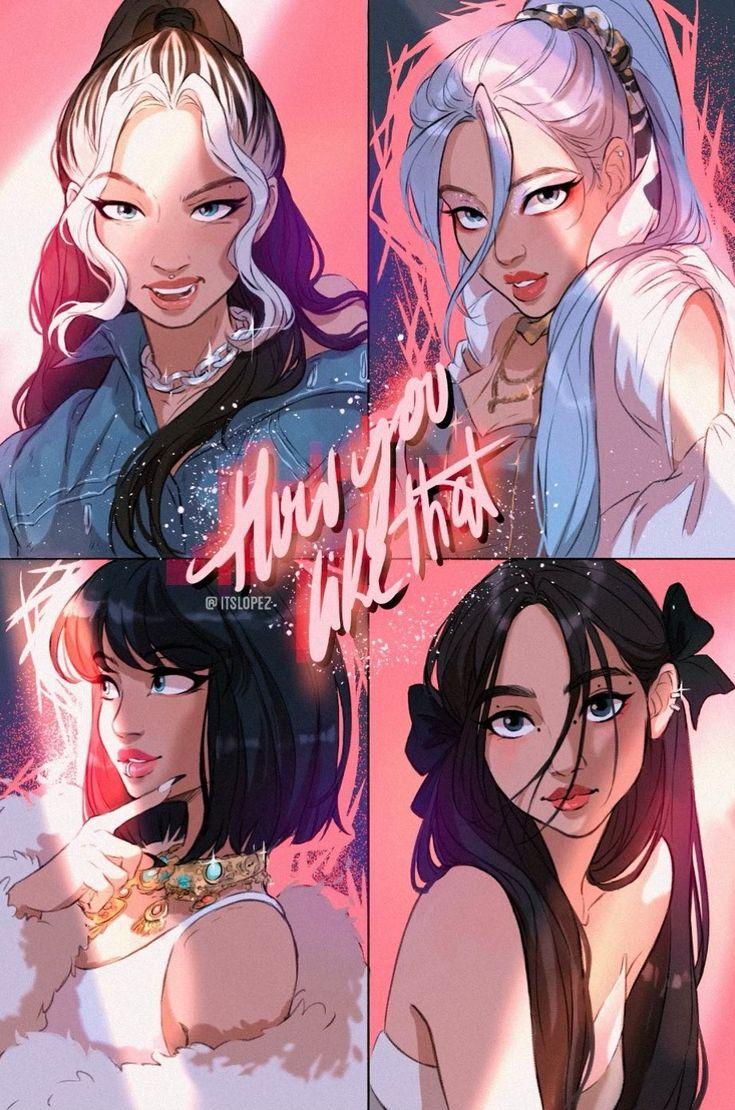 Animes Wallpapers, Cute Wallpapers, Girl Cartoon, Cartoon Art, Itslopez, Blackpink Poster, Arte Do Kawaii, Lisa Blackpink Wallpaper, Black Wallpaper