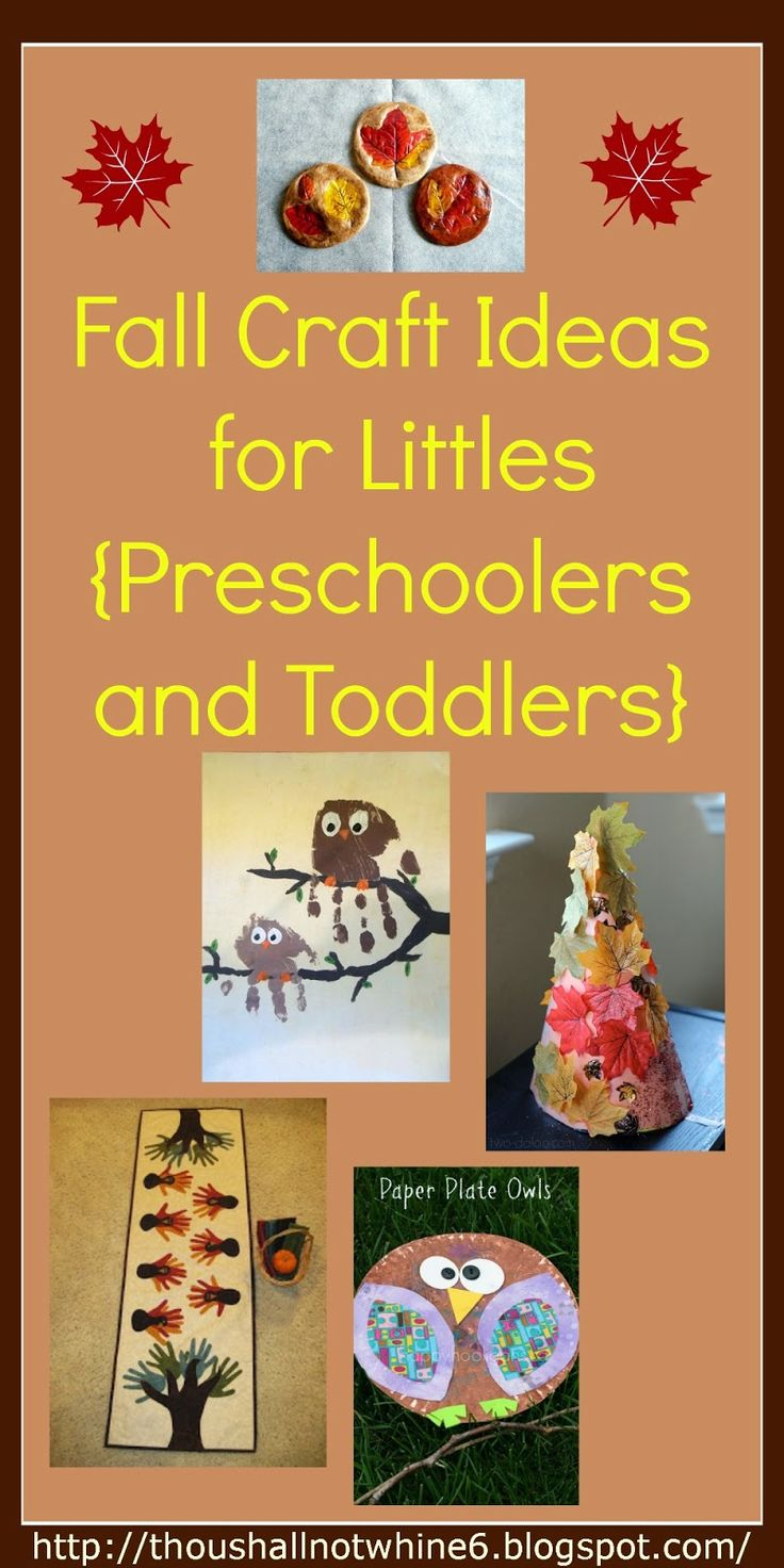 Fall colors activities for toddlers - Simple Fall Crafts For Toddlers And Preschoolers Trees Leaves Owls Turkeys