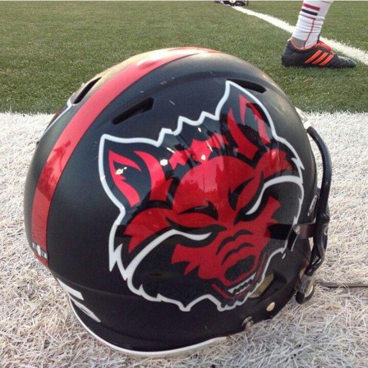 Arkansas state new chrome helmet stickers football