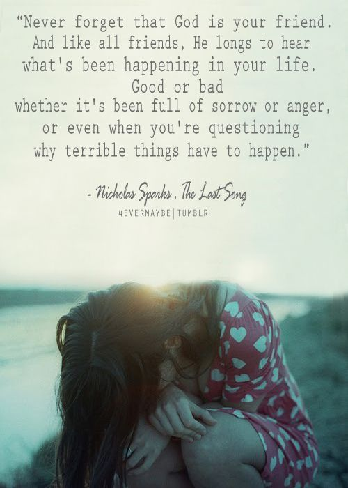 Nicholas Sparks The Last Song quote about God