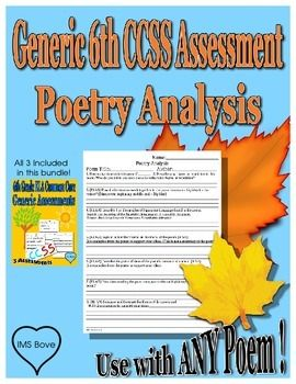 Use this Practice/Assessment with ANY Poem!   CCSS.ELA-LITERACY.RL.6.1	 CCSS.ELA-LITERACY.RL.6.2	 CCSS.ELA-LITERACY.RL.6.3 CCSS.ELA-LITERACY.RL.6.4	 CCSS.ELA-LITERACY.RL.6.5	 CCSS.ELA-LITERACY.RL.6.6 CCSS.ELA-LITERACY.RL.6.7		 CCSS.ELA-LITERACY.RL.6.9  I created this worksheet because I wanted to use materials I have always been using, but needed new CCSS aligned practice and assessments.