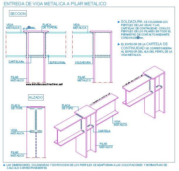 Uni n de vigas met licas y pilares met licos 3 for Uniones para perfiles cuadrados de aluminio