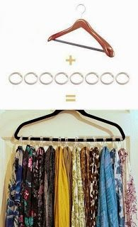 How to Store Scarves - DO IT YOURSELF
