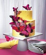 Geweldige vlinder bruidstaart decoratie!