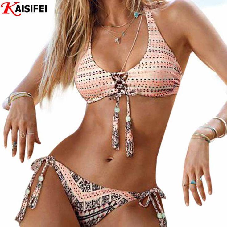Kayvis 2016新しい手作りかぎ針編みビキニ女性水着プッシュアップ水着女性セクシーなブラジルビキニセットビーチ着用水着