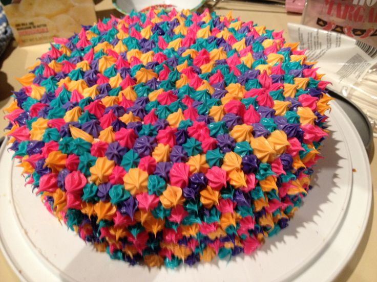 Images Of Cakes To Colour In : Neon Multi- color cake cakes/ cupcakes Pinterest ...