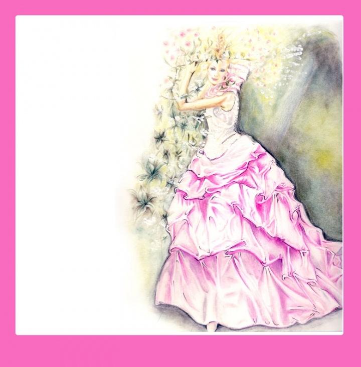 illustrazione per abito da sposa