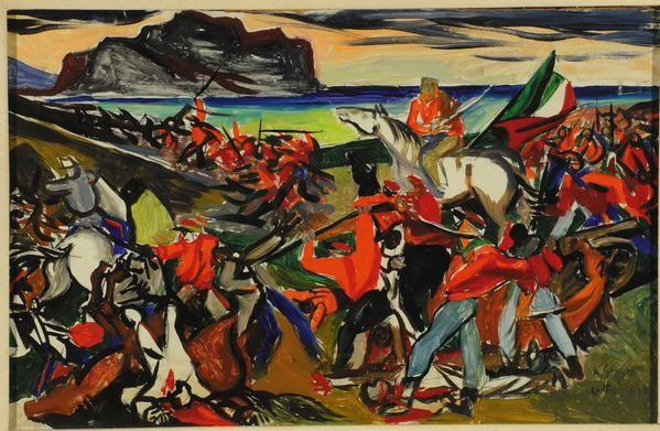 #Guttuso e la battaglia di Ponte dell'Ammiraglio, 1951