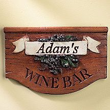 Personalized Wine Bar Sign