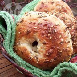 Zelfgemaakte bagels @ allrecipes.nl