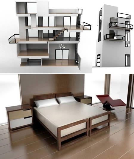 modern miniature dollhouse dollhouses pinterest furniture barbie dolls and barbie. Black Bedroom Furniture Sets. Home Design Ideas