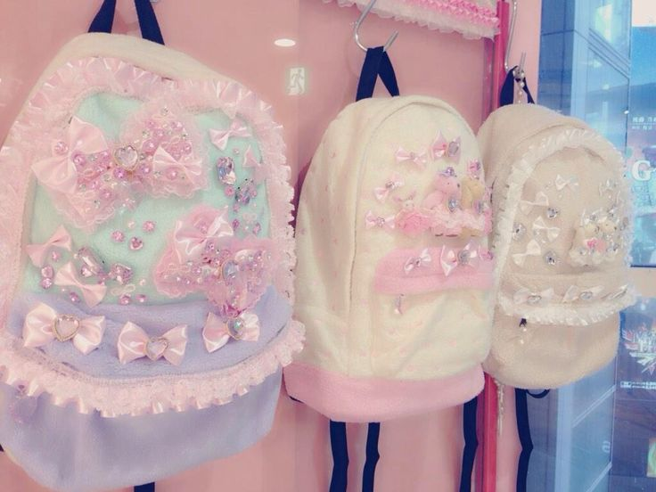❤ Blippo.com Kawaii Shop ❤ | These backpacks are sold in a store, but you could kawaii-fy any backpack yourself! These packs just provide some inspiration! DIY Fairy Kei