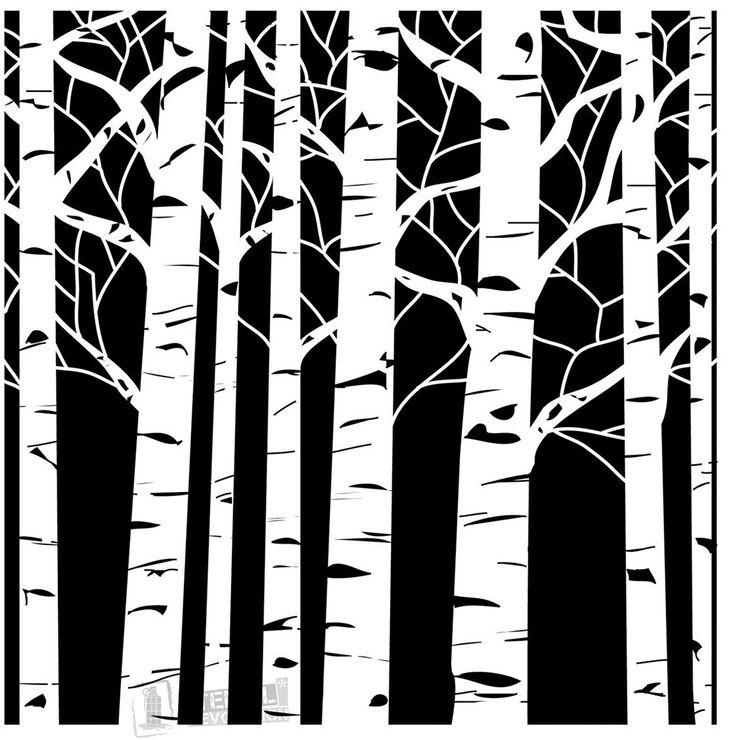Aspen Tree Stencils on Stencil Revolution