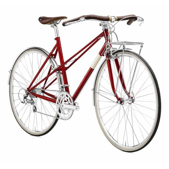 Creme Echo Mixte LTD Edition 28 Zoll Rennrad Red (2017)Das Echo Mixte Solo besteht aus einem gemufften Stahlrahmen,  der hervorragende Fahreigenschaften gewährleistet und einem erfrischenden  Retro-Look. Es wird komplettiert durch ein 18 Gänge Schaltwerk von Shimano mit  besonders robusten Teilen. Außerdem gibt es kleine Highlights wie die  Hochkammerfelgen oder den klassischen Vorbau. Dieses Bike ist optimal für jeden  der einmal Radsportluft schnuppern will oder auch nur einfach entspannt…
